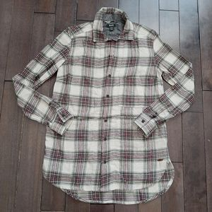 Roots Canada Plaid Oversized Flannel XS